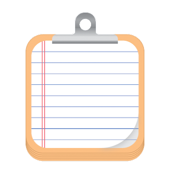 Clipboard icon for designer and developer use.