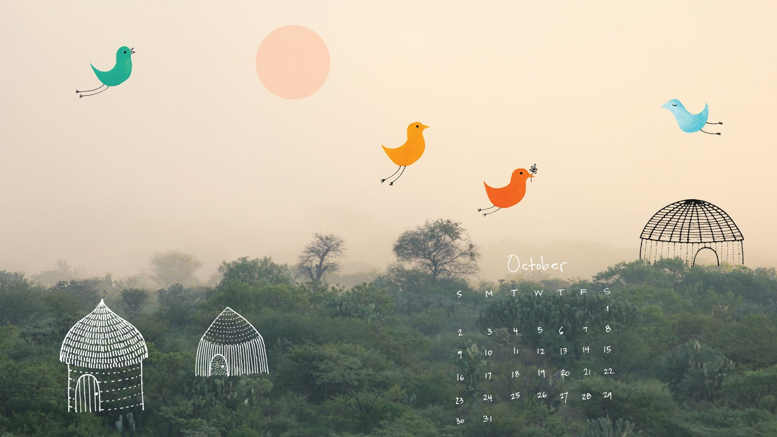Wallpaper Calendar Oct : Oct desktop new free calendar for october at