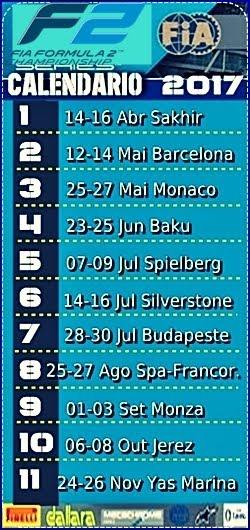 GP2 - Calendário