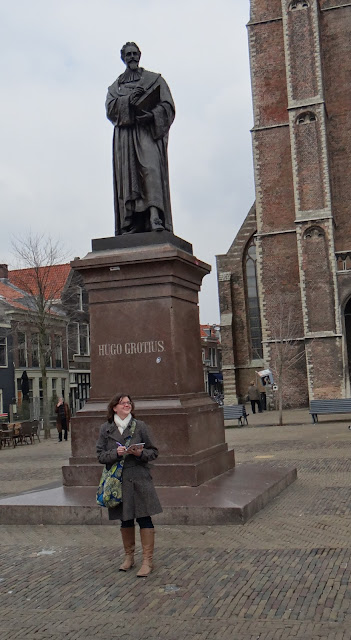 Amy Williams and Hugo Grotius in Delft