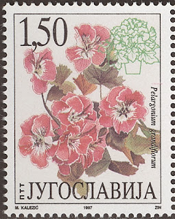1997 Pelargonium grandiflorum - Yugoslavija