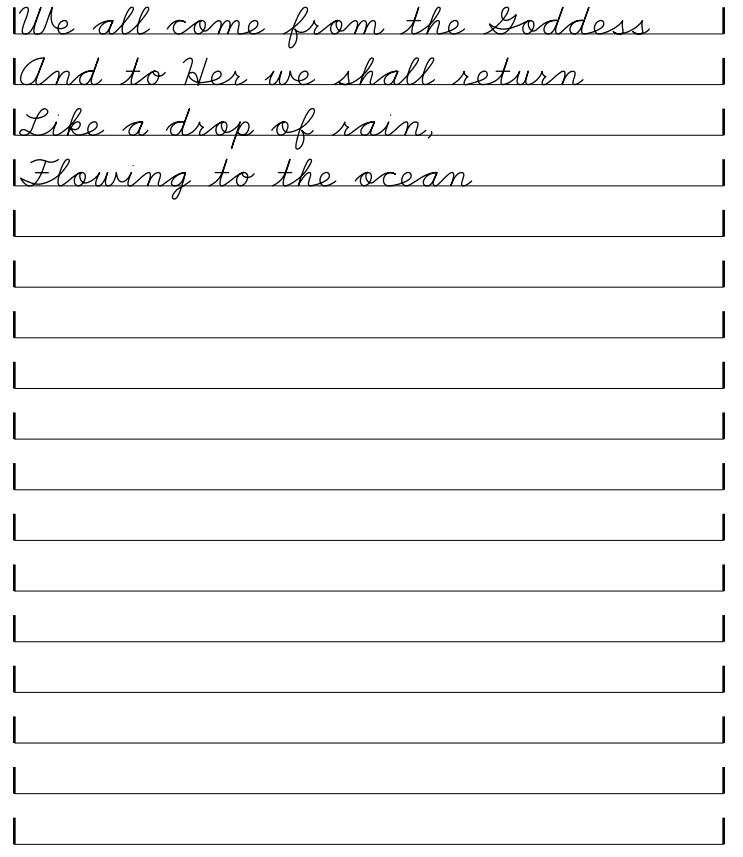 Blank Handwriting Sheets | Hand Writing