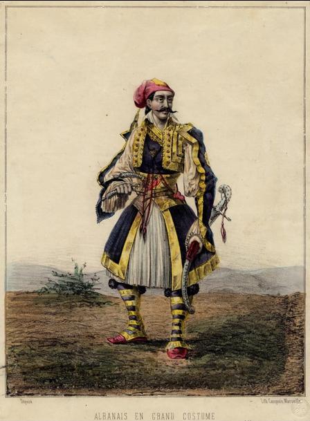 Albanais en grand costume