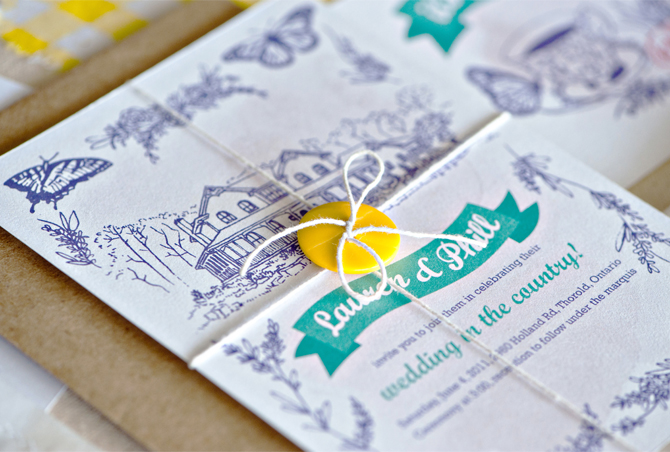 Paper A Country Wedding Invite Love this cheery wedding invite for a