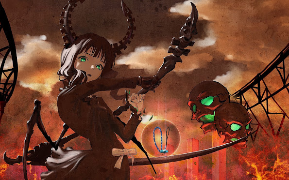 dead master horn skull scythe anime girl hd wallpaper