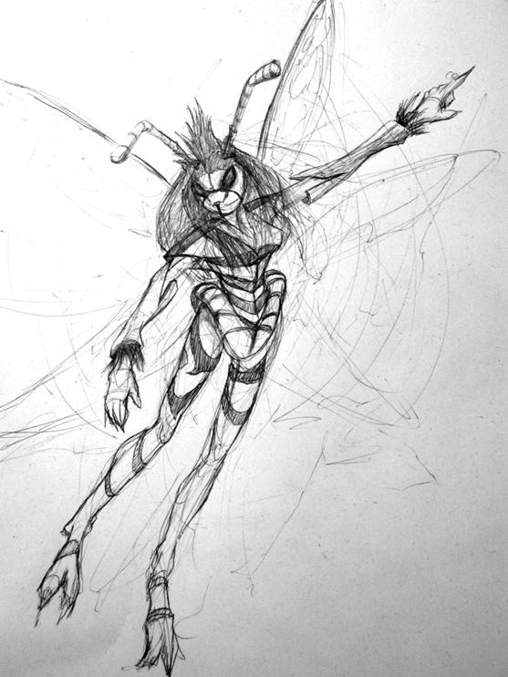 Wasp Humanoid by tdriling on DeviantArt