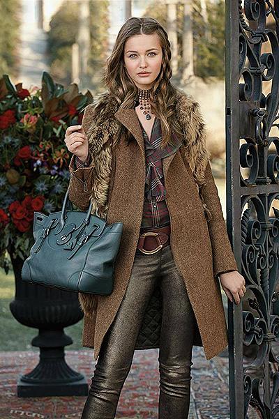 Christina in a Ralph Lauren ad campaigns