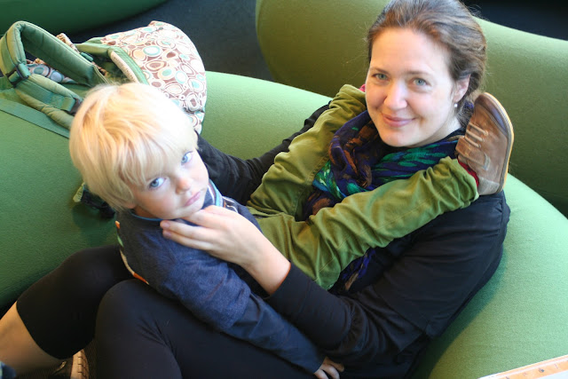 Anton and I at the library.