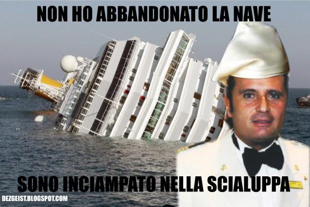 non ho abbandonato la nave, sono inciampato nella scialuppa