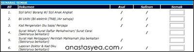 Senarai Semak Pendaftaran Murid Darjah 1 Online