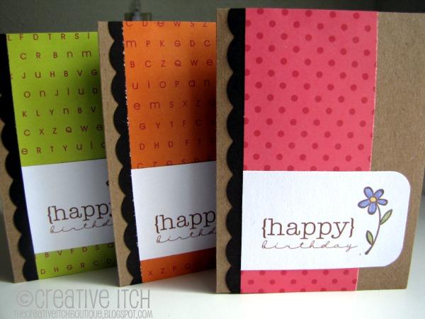 Creative Itch October 2011 – Scrapbooking Birthday Card Ideas