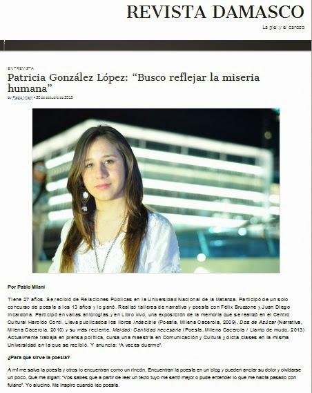 Entrevista de Pablo Milani para Revista Damasco