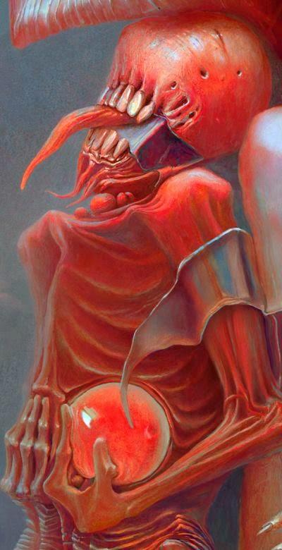 Alexandr Kumpan deviantart ilustrações sombrias macabras surreais demônios terror