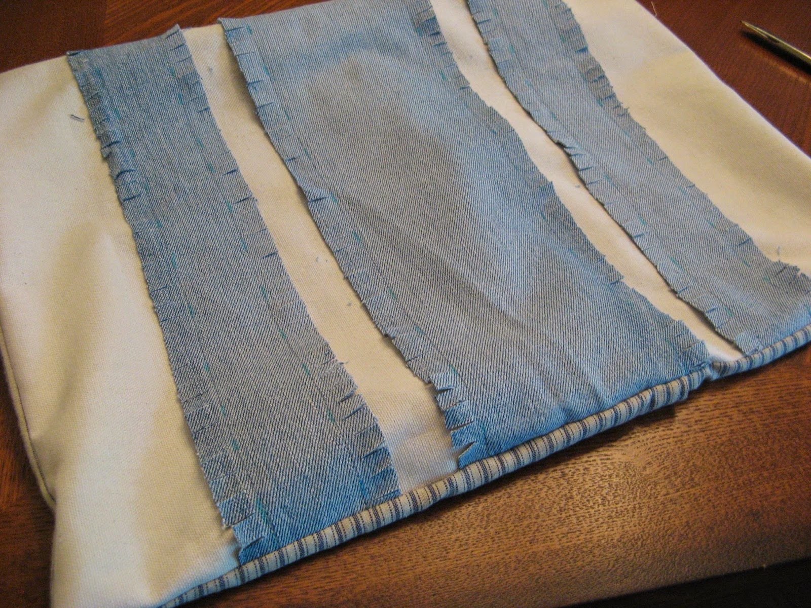 Denim Rag Pillow - Step 4