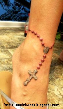 Rosary Tattoos on Pinterest  Ankle Bracelet Tattoos Religious