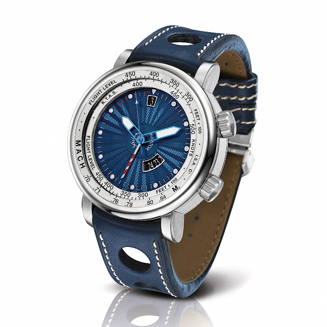 Yeslam Aviator III Watch blue