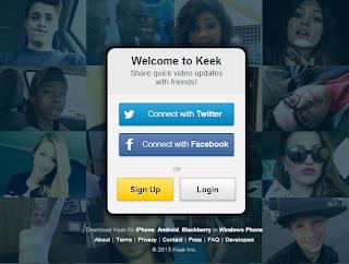التسجيل فى كيك keek