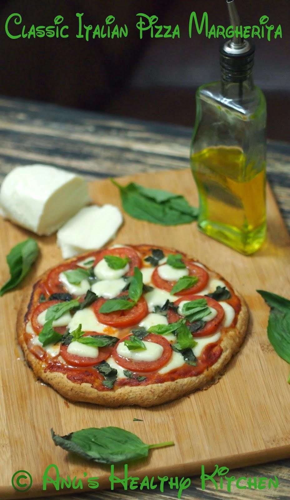 classic italian pizza margherita (bmt pizza)