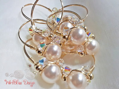 Wire wrap Swarovski Pearl Ring - WireBliss