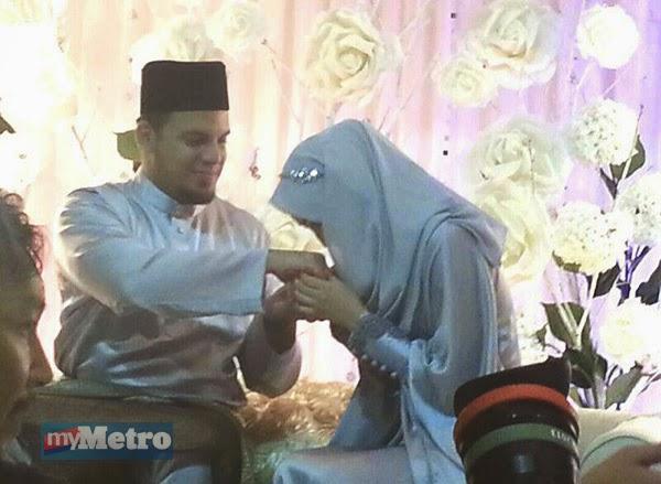 5 Gambar Aliff Omar Selamat Bergelar Suami Isteri