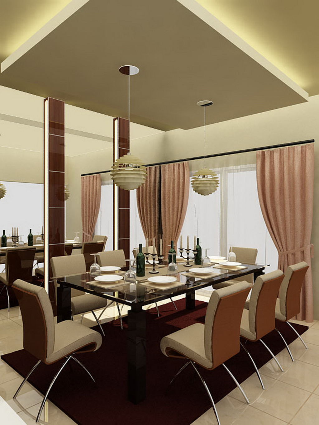 modern dining room - simple home architecture design