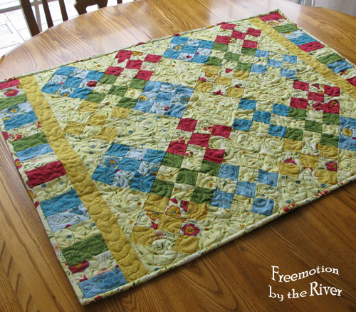 Snibbles quilt on the table