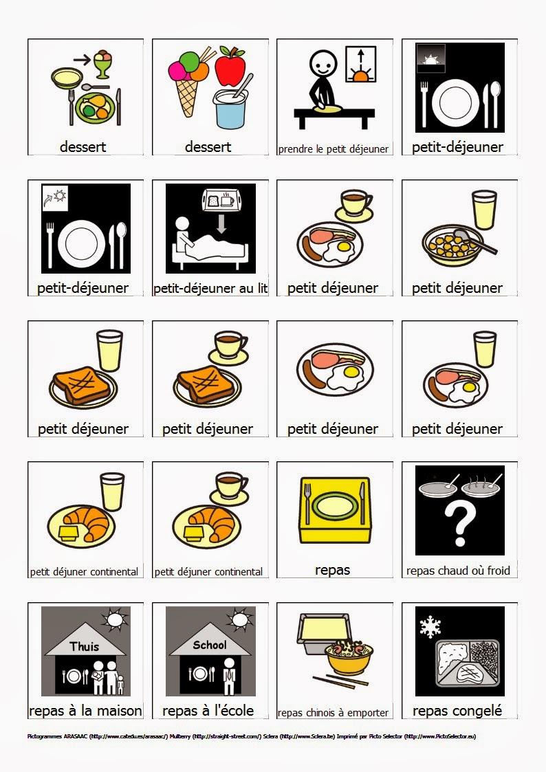 Plan te pictogramme les repas - Repas pour les enfants ...