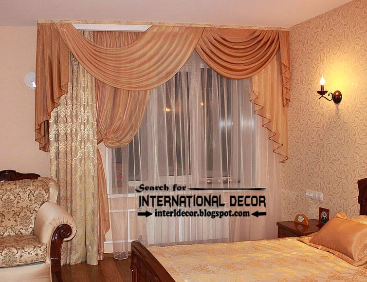 Italian ready made curtain and drapes for bedroom, beige bedroom curtain and drapes