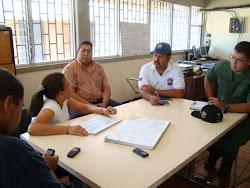 Reunión del Alcalde Ramón Malavé, Planteando la Problematica del Agua en el Municipio