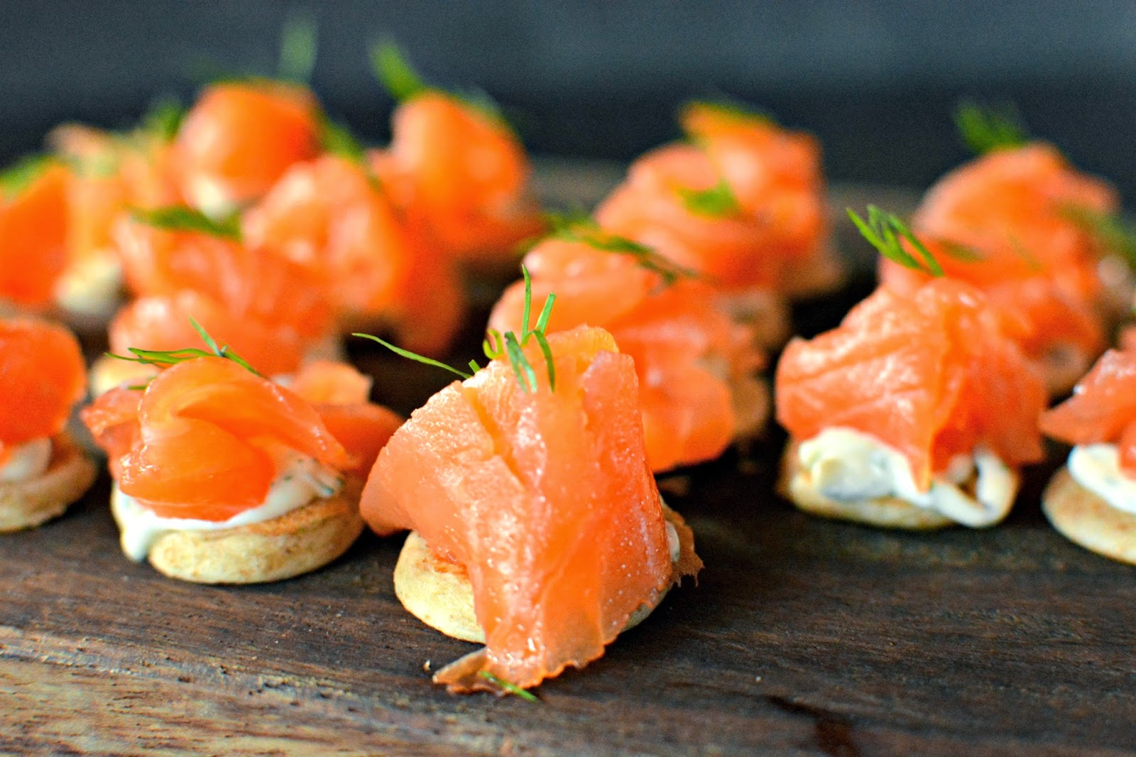 Salmon canapes Smiths Spitalfields launch