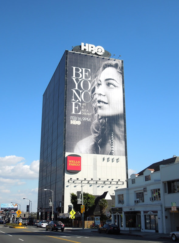 Giant Beyoncé Life Is But a Dream billboard