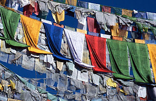 Tibetan prayer flags, Dharamshala