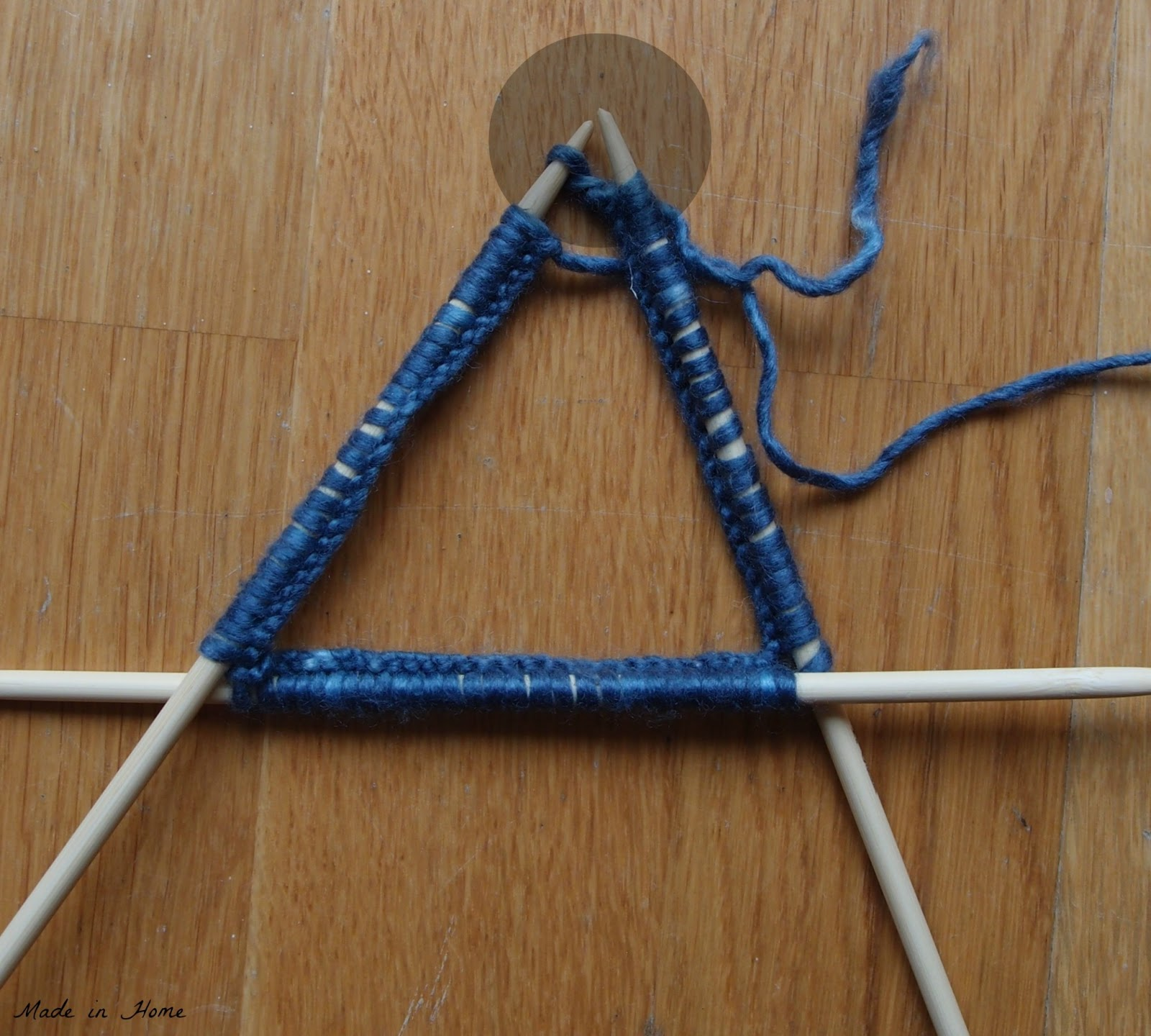 Joining Knitting In The Round Double Pointed Needles : Made in home how to sunday joining when knitting the