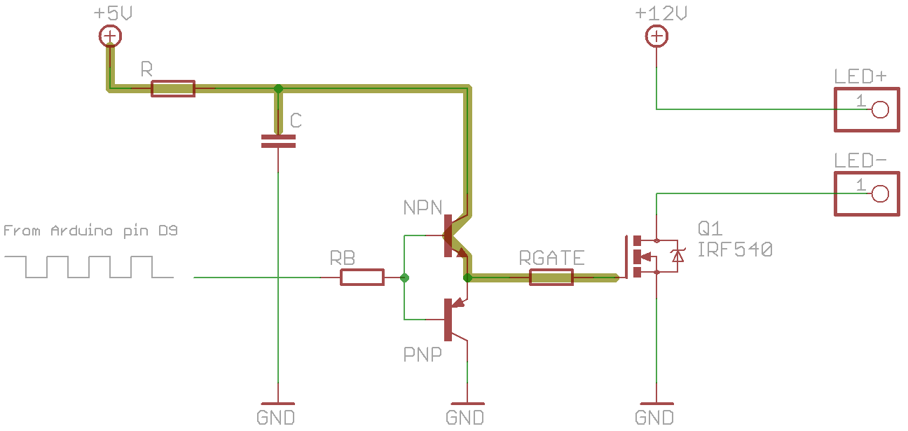 Starlight Dimming A 12v Led Strip With Mosfet And Pwm Wiring Diagram Capacitor High Npn On