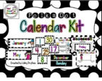 http://www.teacherspayteachers.com/Product/Calendar-Kit-Black-White-Polka-Dots-1274532