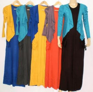 Gamis Cardigan Lengan Panjang Murah Baju Muslim Murah