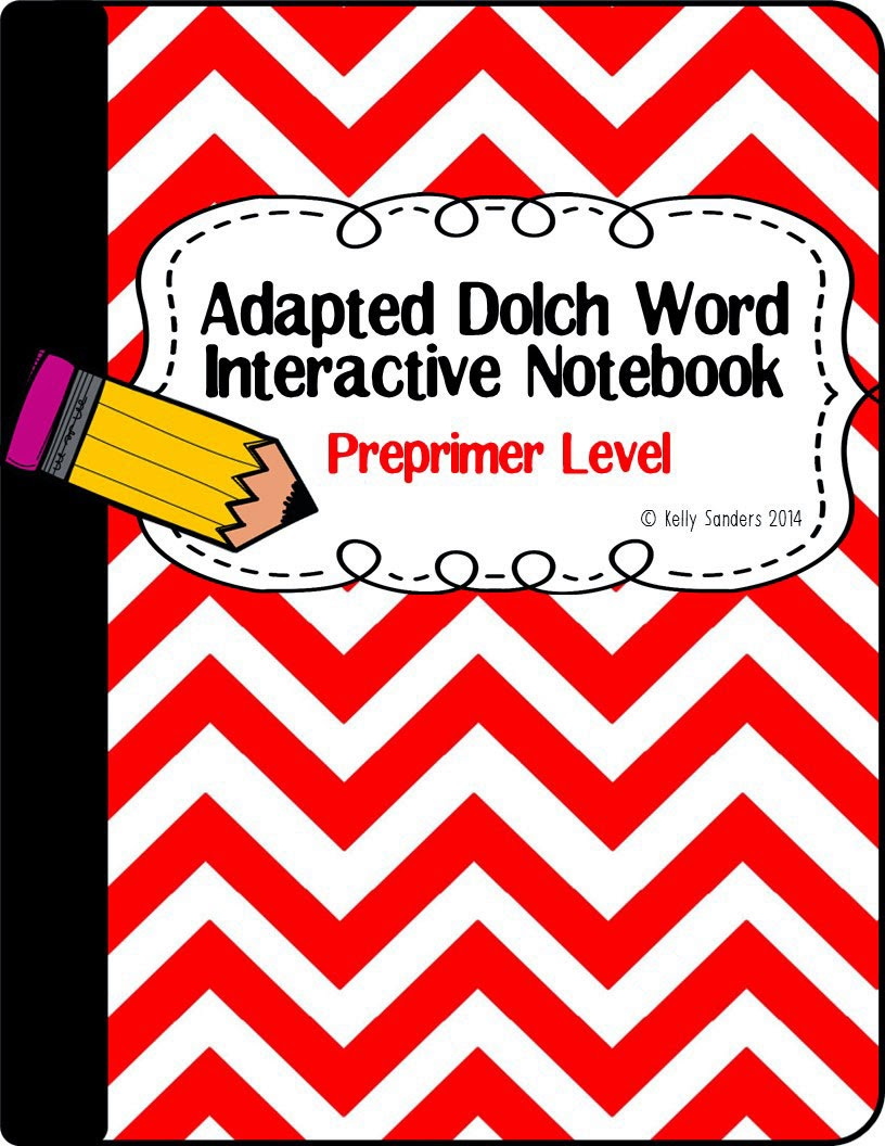 http://www.teacherspayteachers.com/Product/Adapted-Dolch-Word-Interactive-Notebook-Preprimer-1318057