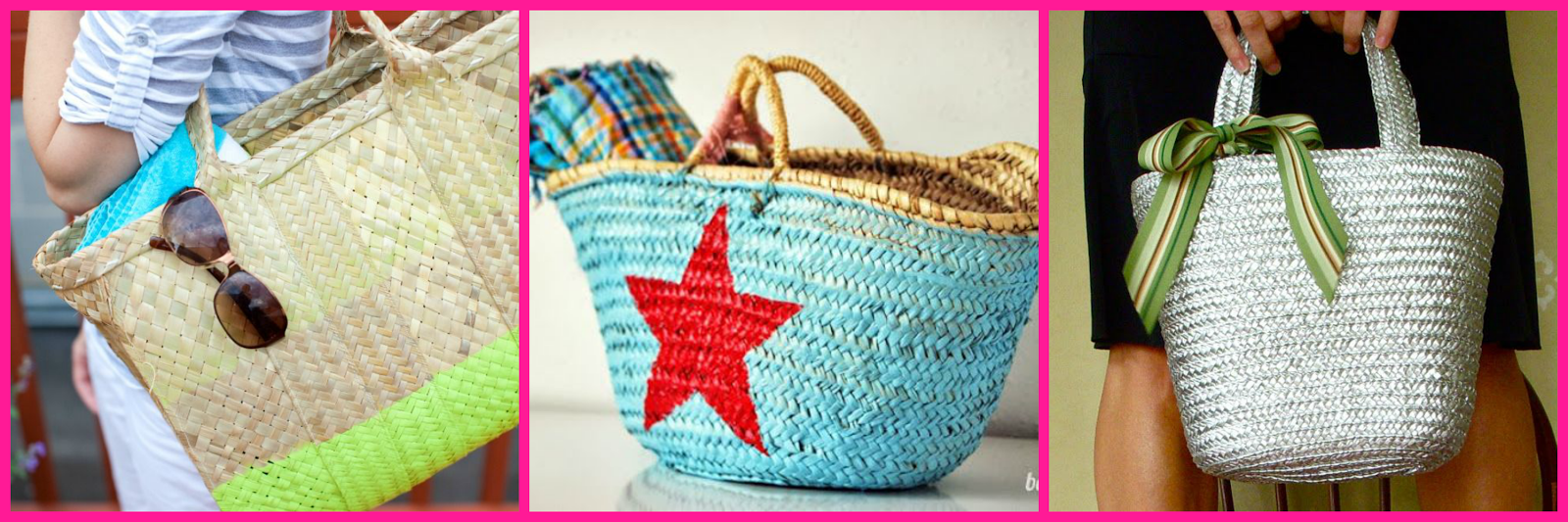 SPRAY PAINT STRAW BAG/CAPAZOS PINTURA SPRAY DIY