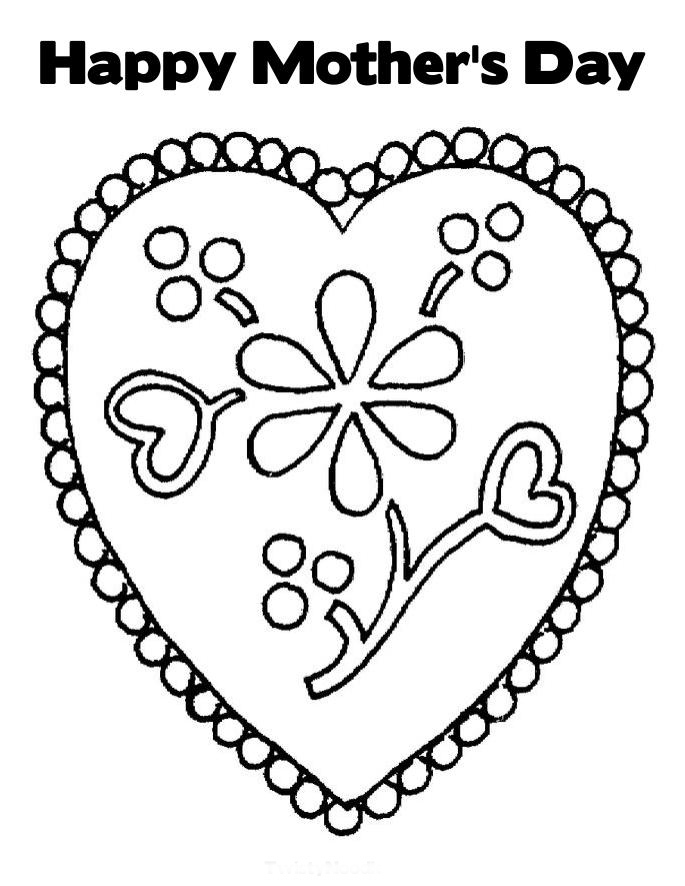 Free coloring pages happy mothers day coloring pages for Happy mothers day coloring page