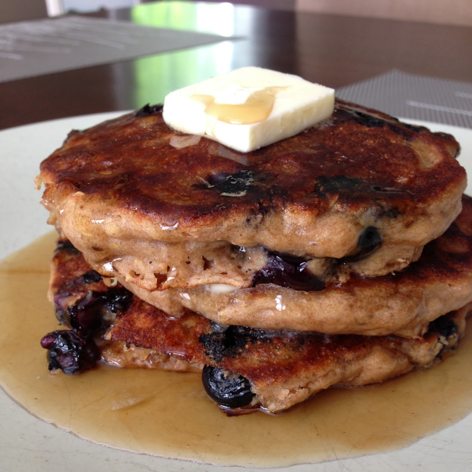 Whole-Grain Pancake Recipe With Blueberry Maple Syrup ...