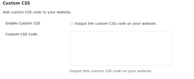 custom CSS option in WooDojo