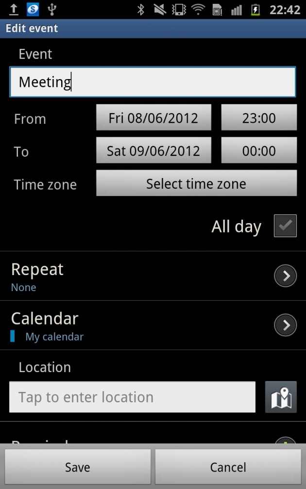 Samsung Galaxy S3: How to Add and Delete Calendar Event Using S