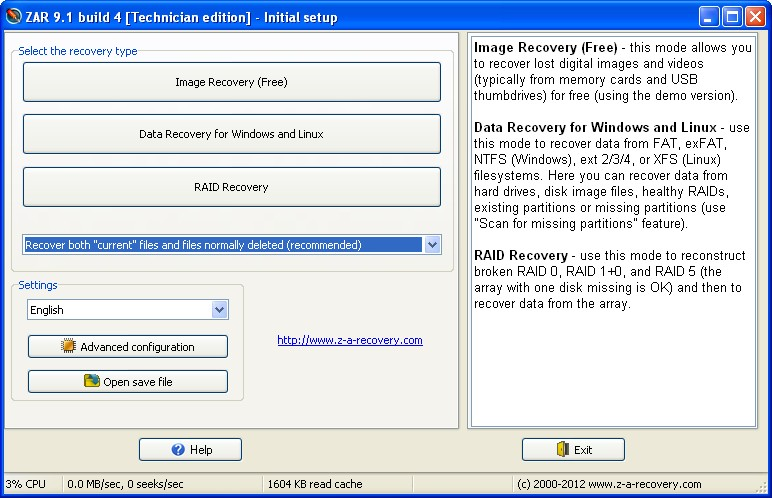 za recovery download