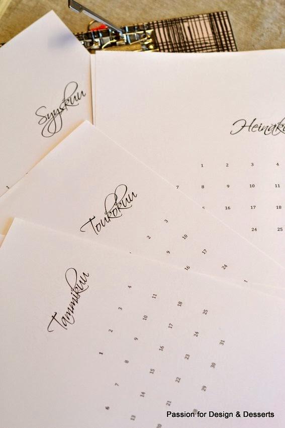 Kuukausikalenteri 2015