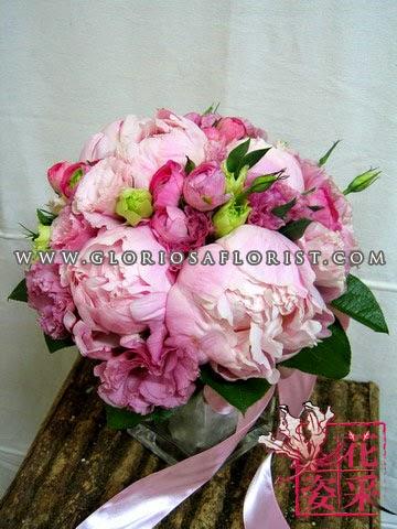 大小牡丹花球$1880包1個花球1個新郎襟花