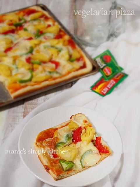 resep pizza vegetarian gampang