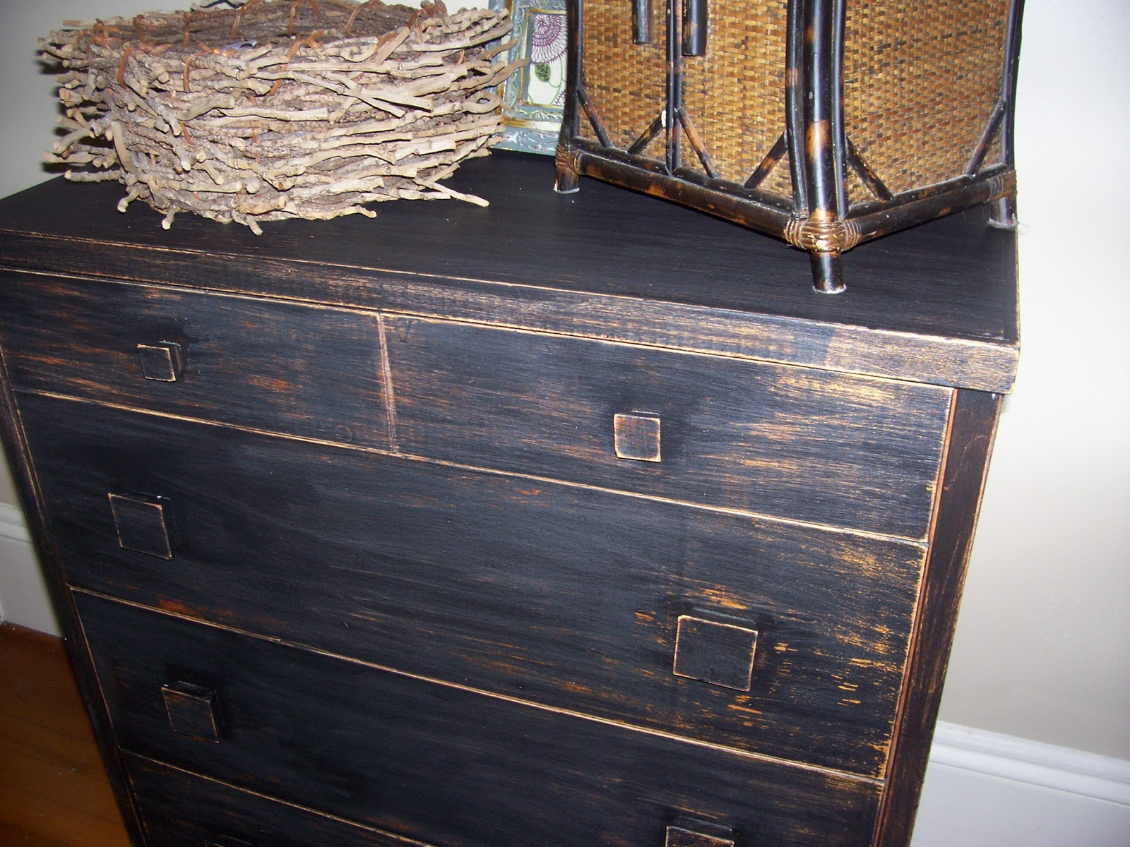 nfs distressed black dresser touch of grace