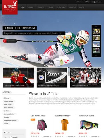JA Tiris - Joomla! Shopping Template
