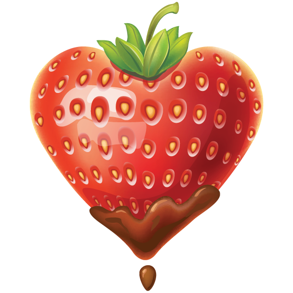 Strawberry heart icon