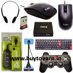 Amazon: Buy Enter Computer Accessories upto 65% off from Rs.35